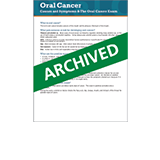 Causes and symptoms of oral cancer