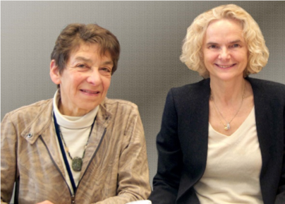 NIDCR Director Martha J. Somerman, DDS, PhD, and NIDA Director Nora D. Volkow, MD