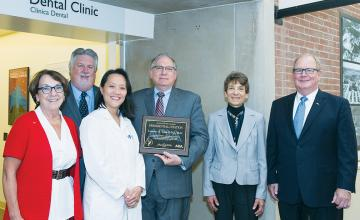 Dr. Larry Tabak, Gary L. Roberts, DDS, and other ADA officials