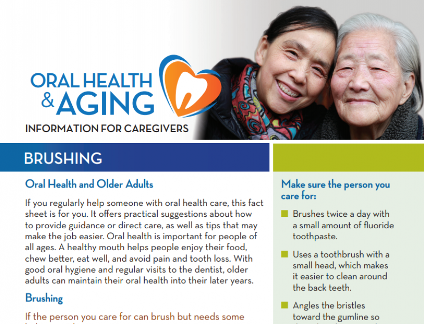 Brushing: Information for Caregivers