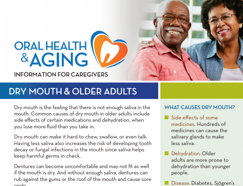 Dry Mouth & Older Adults: Information for Caregivers