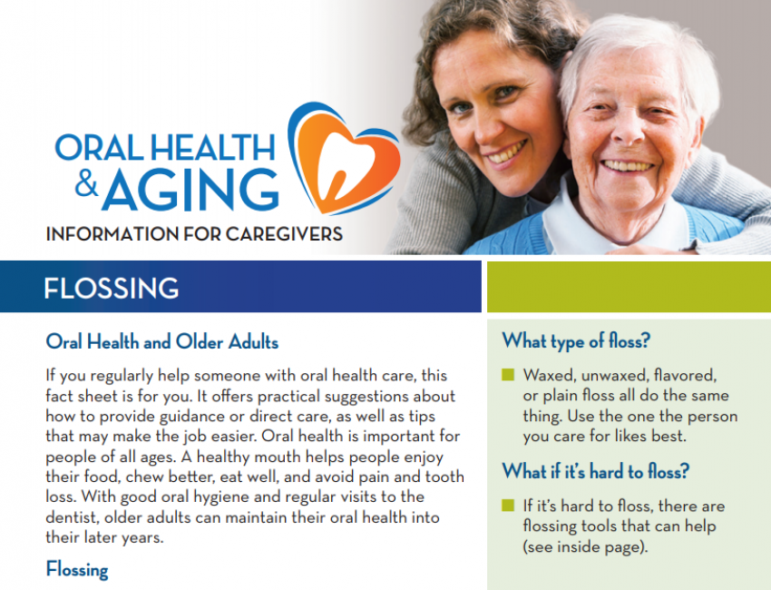 Flossing: Information for Caregivers