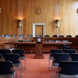a United States senate committee hearing room in Washington DC