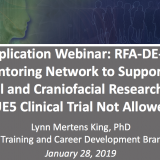 Pre-Application Webinar for RFA DE-19-007